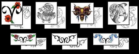 List of Images of Aries Ram Tattoo Designs