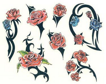 flowers tattoos designs. flower tattoo designs.