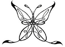 A beautiful celtic butterfly tattoo design for women.