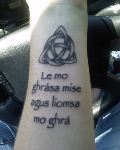 friendship tattoos symbols. Gaelic symbol tattoo on man#39;s
