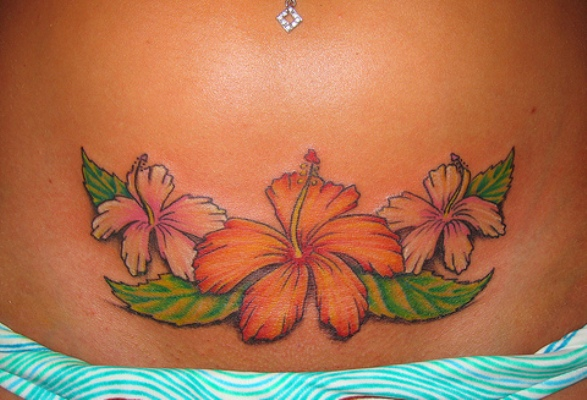 Hawaiian Flower Tattoo Outlines