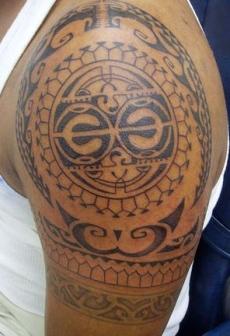 The Maori Polynesia tattoo for men.