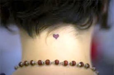 A little cute heart tattoo at