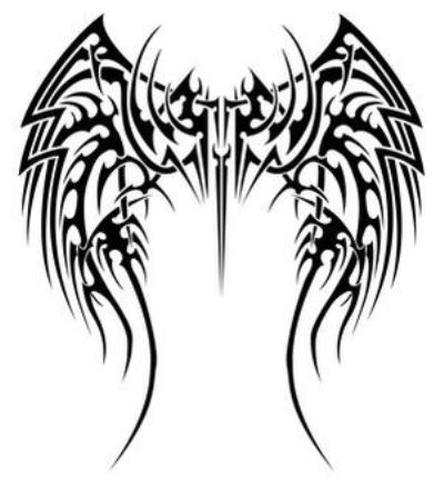Tribal Tattoos Designs  Women on Full Back Tribal Printable Wings Tattoo For Men And Women