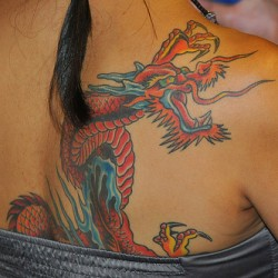 Girl Dragon Tattoo Shoulder