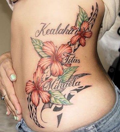 Popular Hawaiian Flower Tattoos